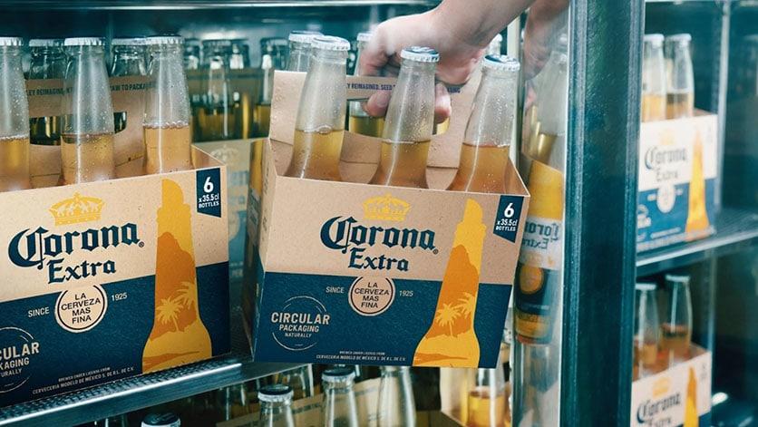emballage écolo pour la bière corona