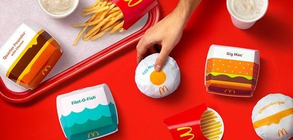 nouveau packaging mcdonald's