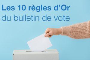 Les 10 règles d'Or du bulletin de vote