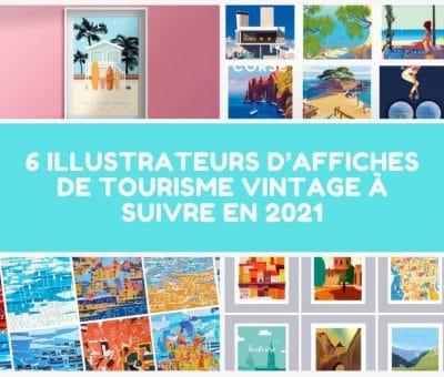 6 illustrateurs d'affiches de tourisme vintage à suivre en 2021 (1)