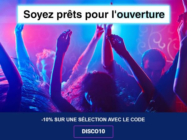 Code promo pour les discothèques
