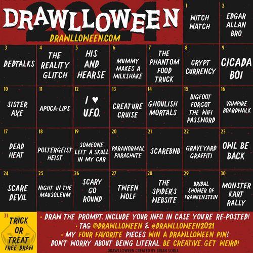 drawlloween annonce thèmes