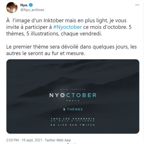 nyoctober annonce challenge