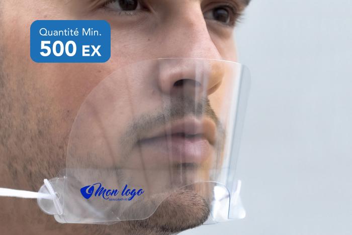 Masque transparent personnalisable
