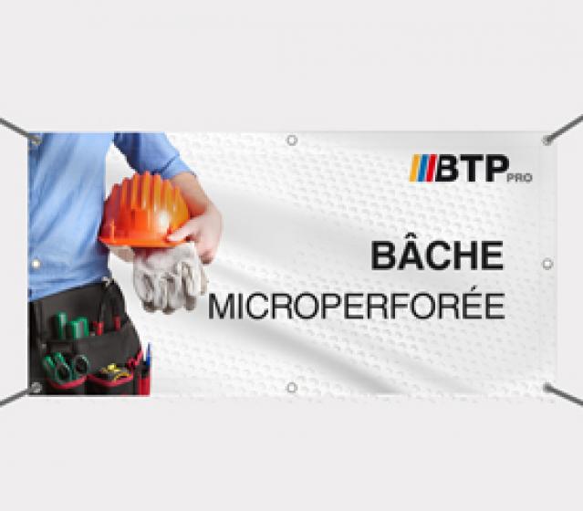 Bâche microperforée