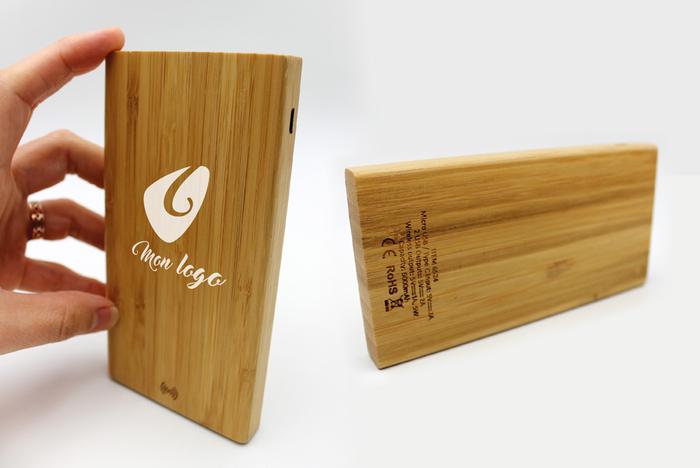 batterie externe portable personnalisée