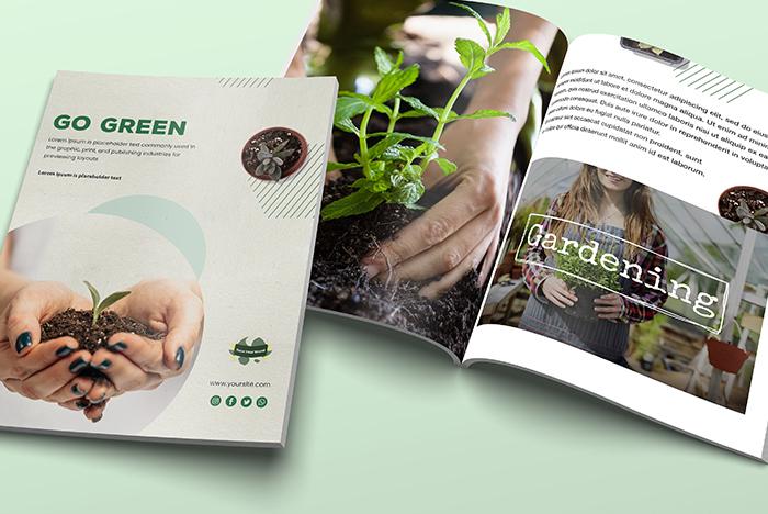 brochure en papier recyclé