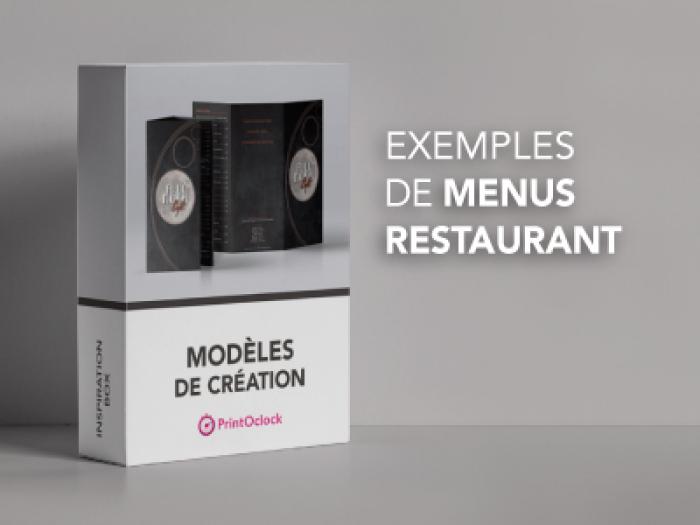 Exemples de menus clients printoclock