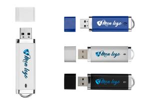 Clé USB personnalisée fermée