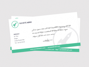 carte de correspondance format Carte de correspondance [Personnalisée , Format] Carte de