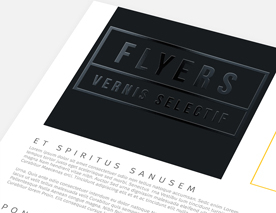 Flyers Vernis Selectif