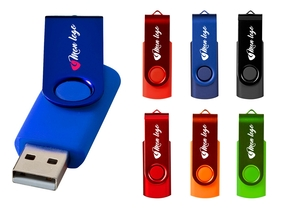 Clé USB personnalisée rotative - Grande série