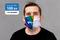 masque tissu imprimé