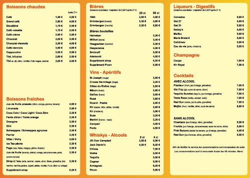 Carte Restaurant Boisson.Creer Menu De Restaurant Exemple Et Modeles De Creation